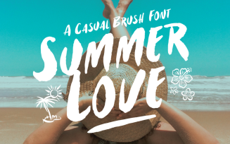 Summer Love Casual Brush Font