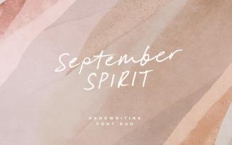 September Spirit Hnadwriting Font Duo