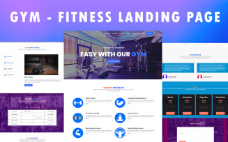 GYM - Free Fitness Landing Page