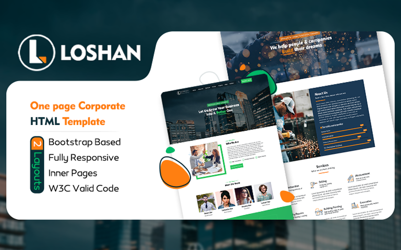 Loshan - Onepage Corporate HTML Template