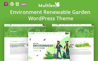 Multilen Environment Renewable Gardening WordPress Theme