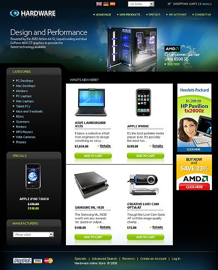 ���� Template Monster 19748 OsCommerce 2.2