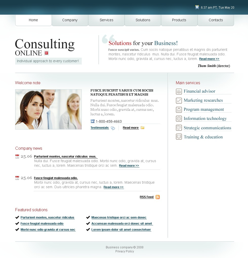 Consulting website template 19767 for Consulting website