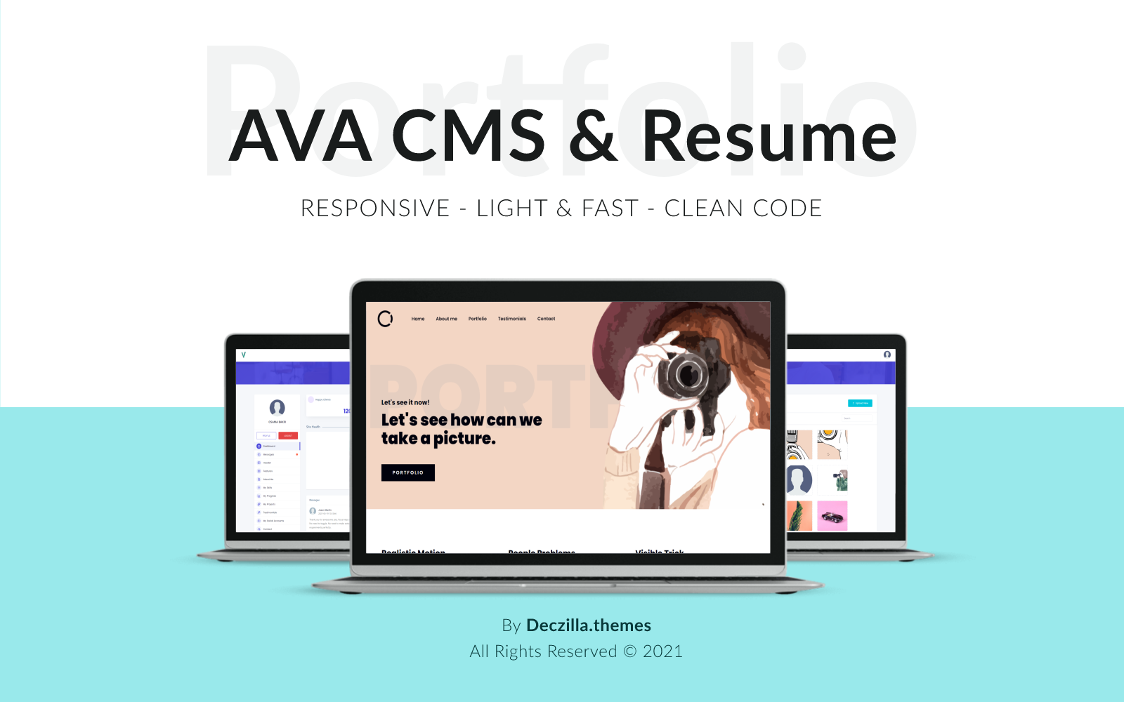 AVA - CMS Personal Portfolio and Creative Landing Page Template