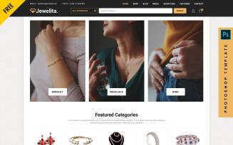 Jewelita - Free eCommerce Photoshop PSD Template