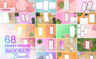 Smartphone Mockup Bundle, Mobile Phone mockup Bundle, Smartphone Empty Screen Mockup