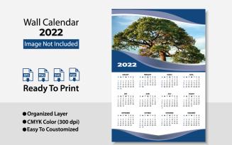 2022 Wall Calendar / Template Planer