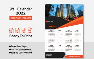 2022 Wall Calendar Design / Planer