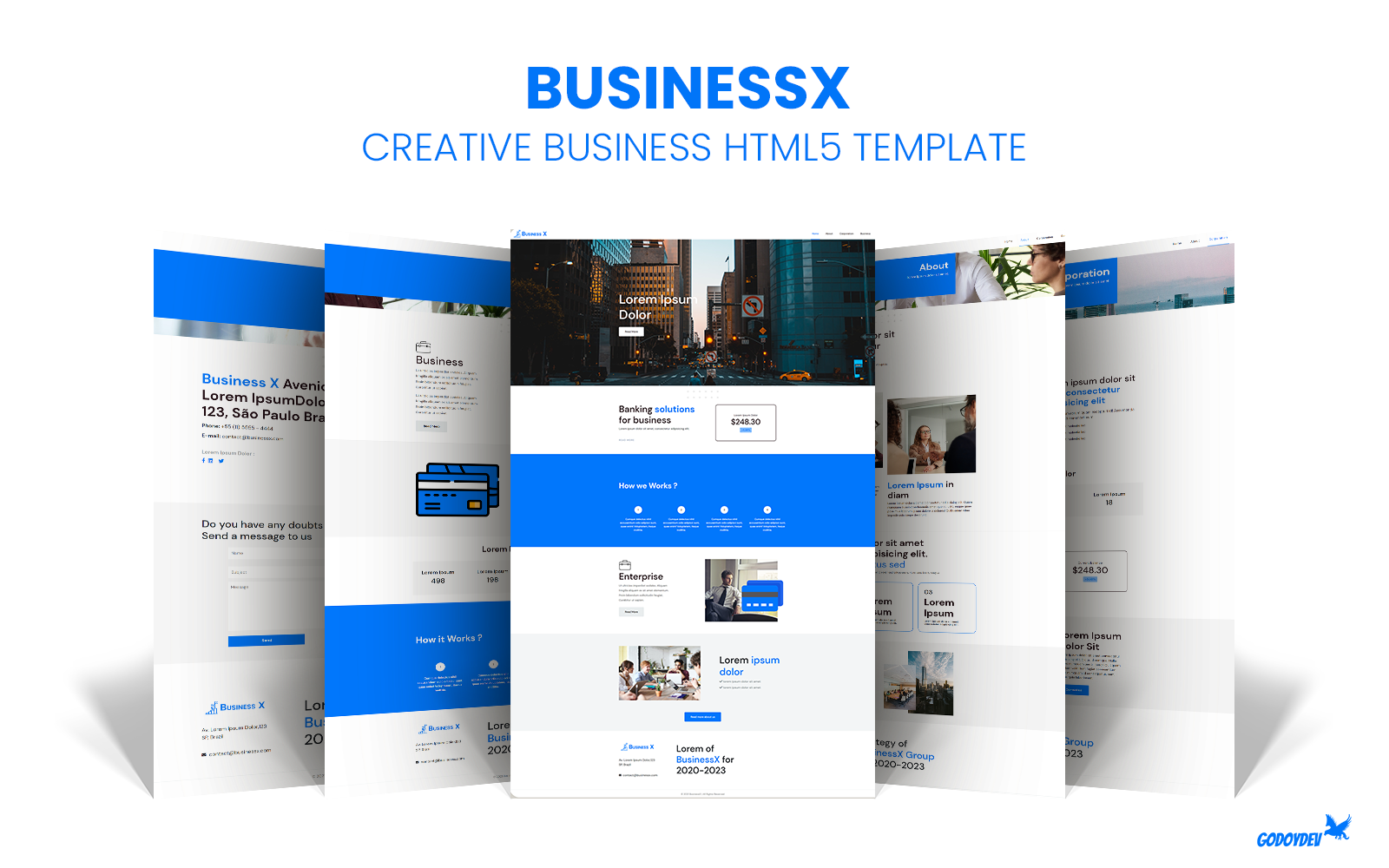 BusinessX - Creative Business HTML5 Template