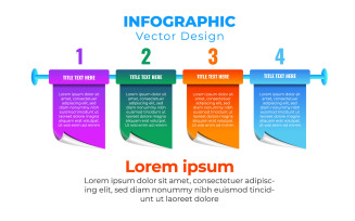 Vector Illustration Infographic Design Template With 4 Concepts