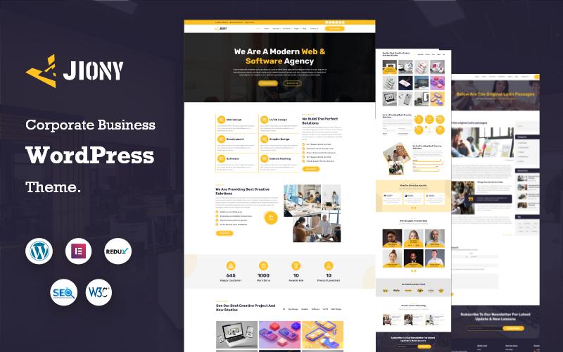 Jiony - Multipurpose Corporate Business WordPress Theme