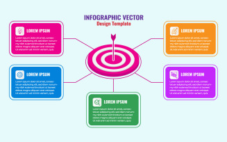 Business Infographics Design With 5 Concepts