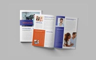 Business Newsletter Template | Marketing Newsletter Template | Magazine Newsletter Template InDesign
