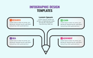 Education Infographic Design Template With 4 Options Or Steps