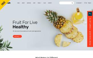 Joefruit - Free eCommerce Photoshop Web PSD Template
