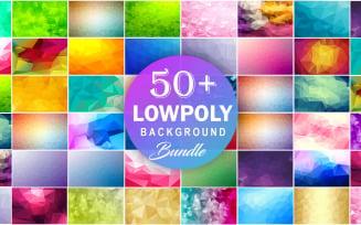 Low Poly Abstract Background Bundle Polygonal Mega Bundle