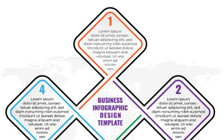 Minimal Infographic Design Template With 4 Options Or Steps