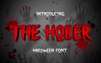 The Holler a Halloween Font