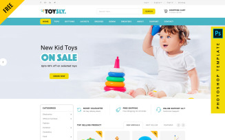 Toysly - Free eCommerce Photoshop Template