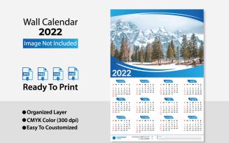 2022 Wall Calendar / Planer Template Design
