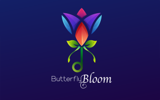 Butterfly Bloom - Free Colorful Gradient Logo Template