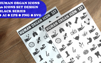 Human Organ Icon Set Template