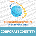 Communications Corporate Identity Template 19886