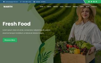 Warith - Organic Farm Landing Page Theme