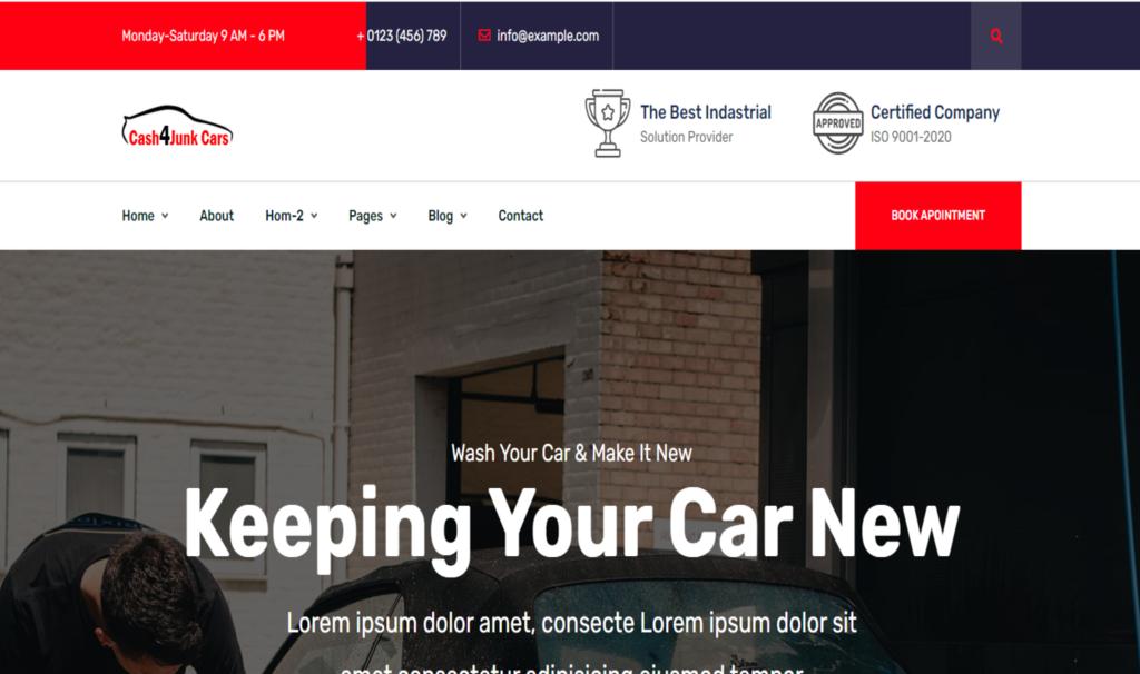 Cash4Junk  – Car Wash HTML Template