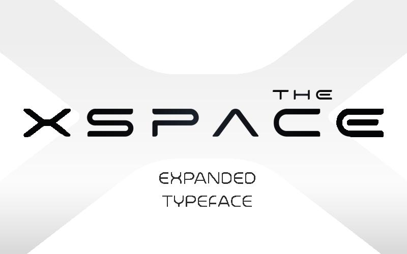 Futuristic HUD X-Space Font