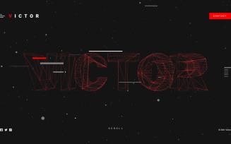 VICTOR - Modern Unique 3D Landing Page template