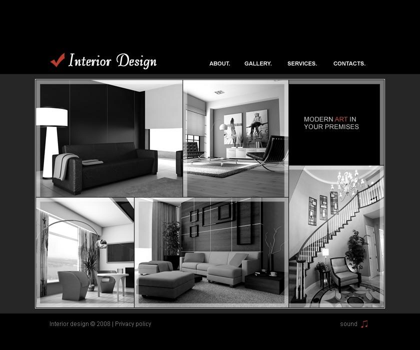 Interior Design Flash Template 19551: Interior Design Flash Template #19961
