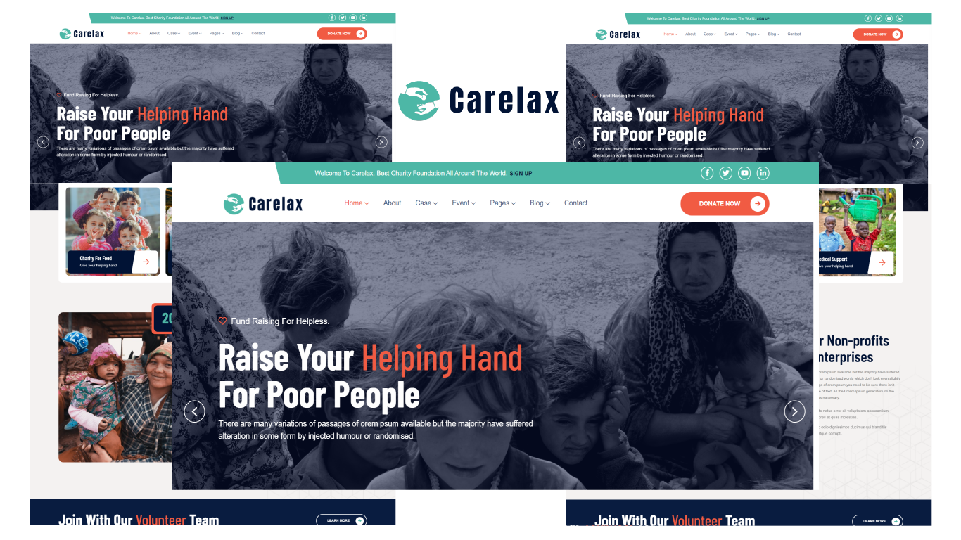 Carelax - NonProfit & Charity Foundation HTML5 Template