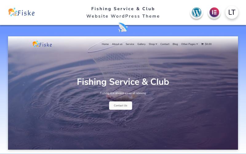 Fiske - Fishing Service & Club Elementor WordPress Theme