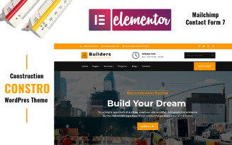 Constro - Construction WordPress Elementor Theme