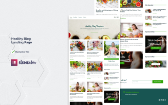 Healthy Blog | Healthy Blog Elementor Pro Kit Landing Page Template