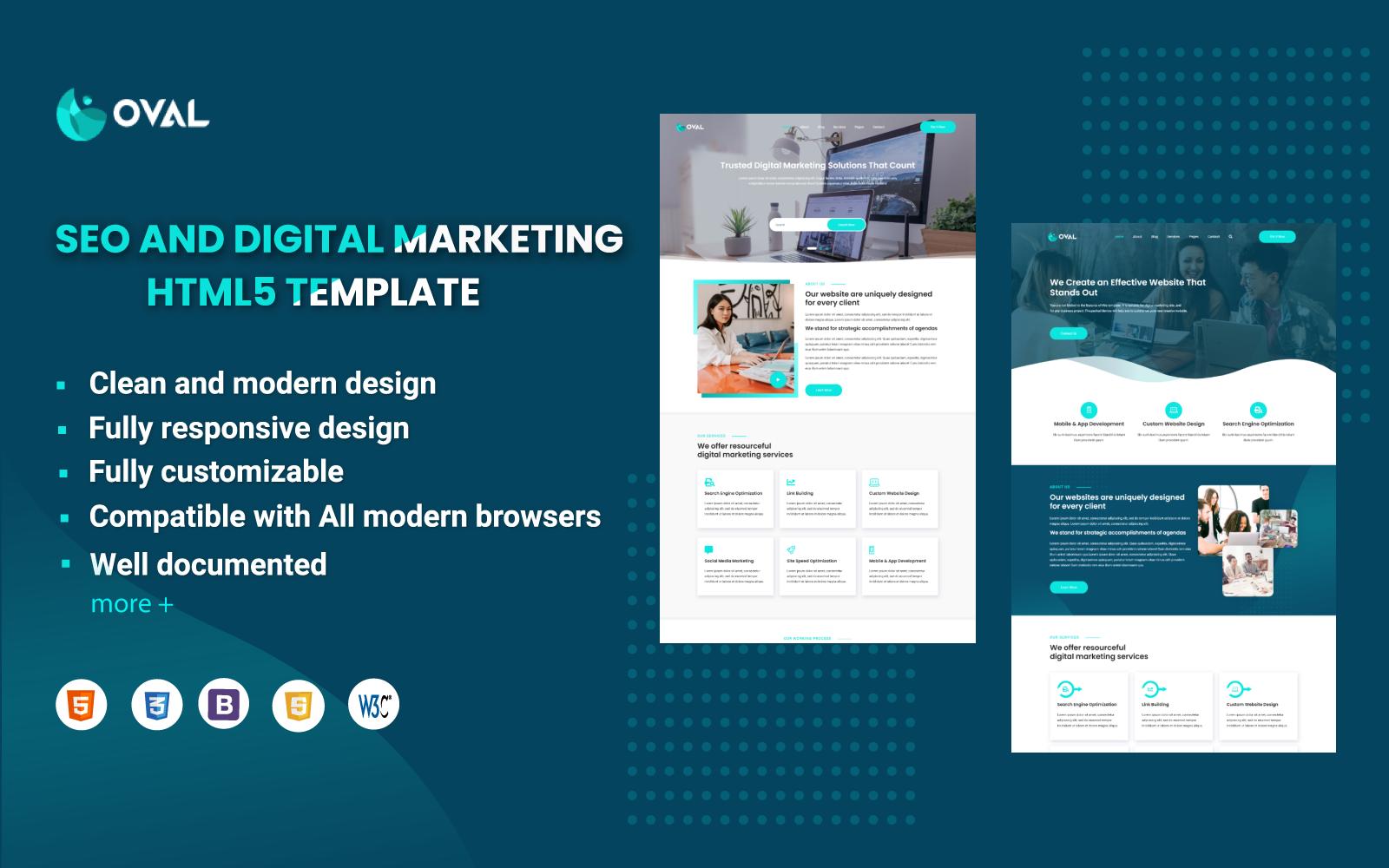 Oval - SEO and Digital Marketing HTML5 Template