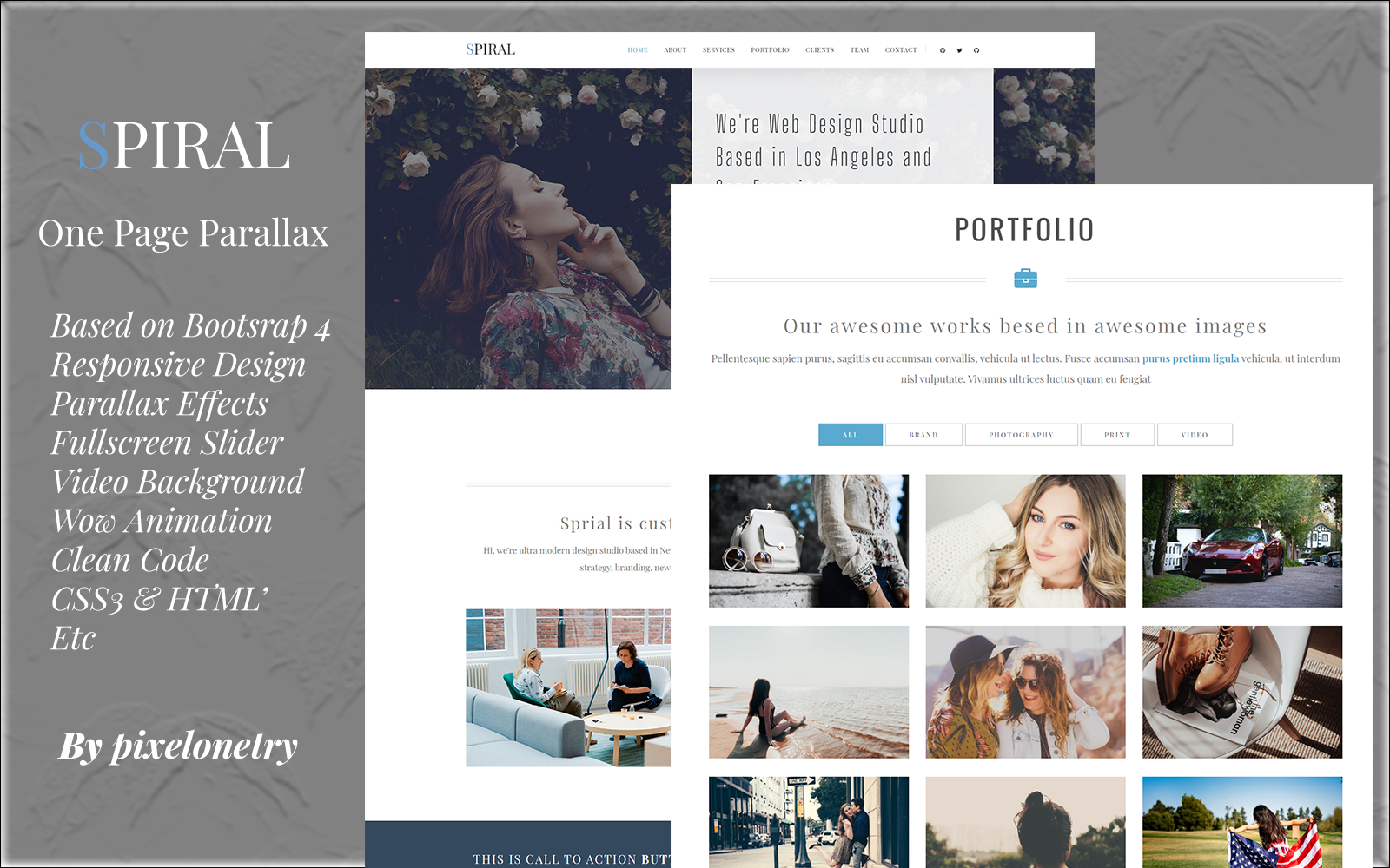 Spiral - One Page Parallax Landing Page Template