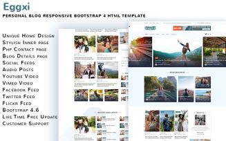Eggxi Personal Blog HTML5 Template