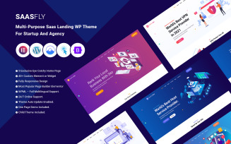 Saasfly - Multi-Purpose Saas Landing WP Theme For Startup And Agency