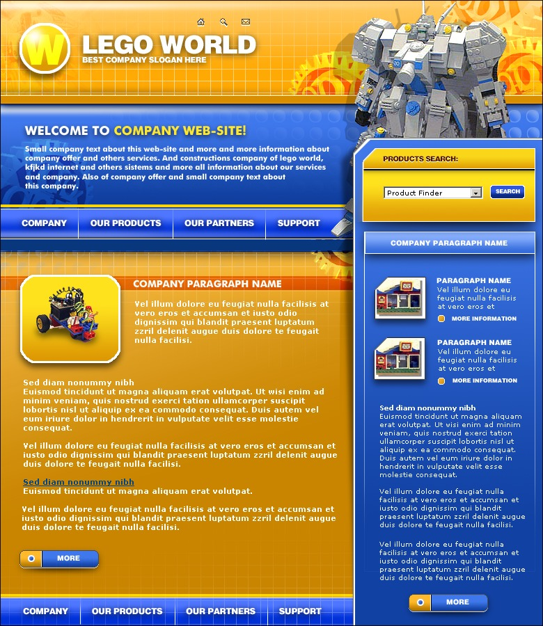 toy store website template 2088