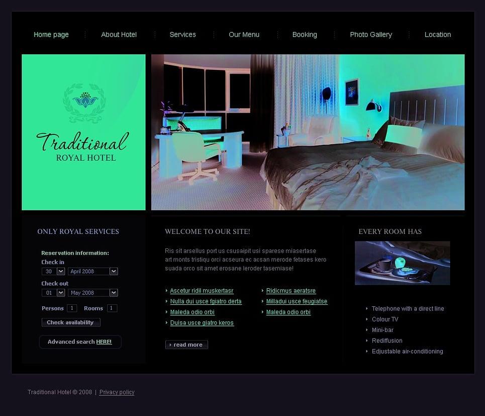 Mod le web 20010 pour site d 39 h tel for Site web pour hotel
