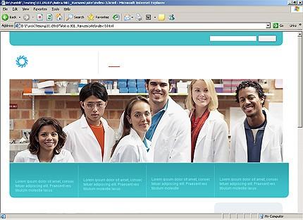 Page d'accueil HTML du kit graphique #20018