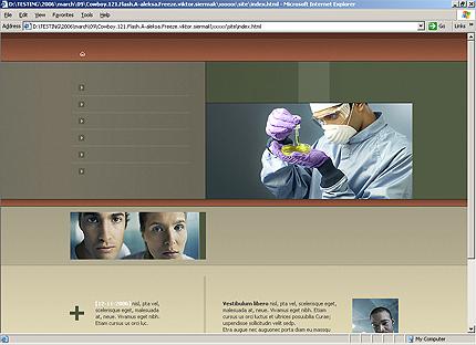 Page d'accueil HTML du kit graphique #20067