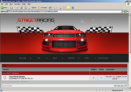 Шаблон для форума PhpBB (20078)