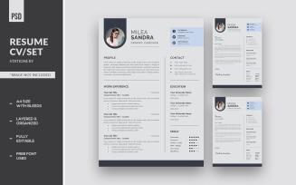 Resume CV/Set Corporate Identity Template
