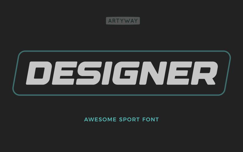 Designer Headline and Logo Font