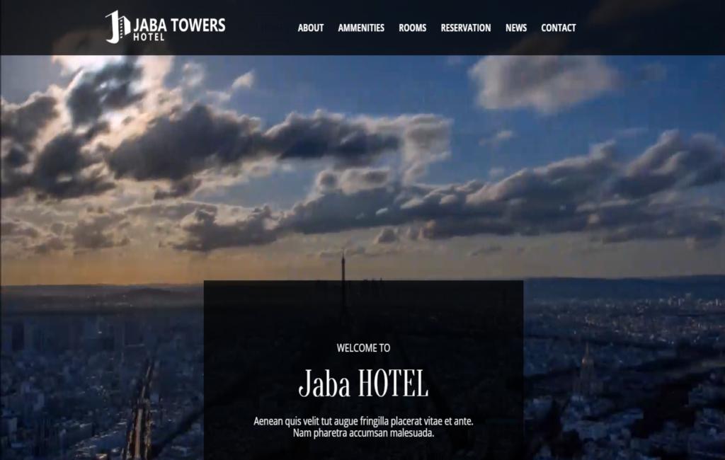 JABA Tower  Hotel-Multipurpose Premium HTML5 Website Template