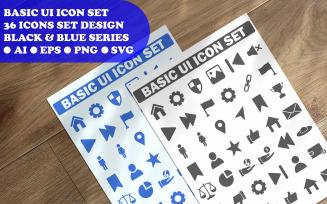 Basic Ui Business Icon Set Template