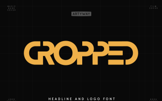 Cropped Awesome and Logo Font